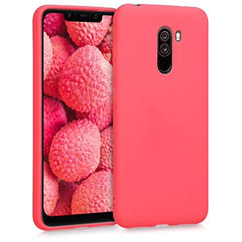 kwmobile Hülle kompatibel mit Xiaomi Pocophone F1 - Hülle Silikon - Soft Handyhülle - Handy Hülle in Living Coral