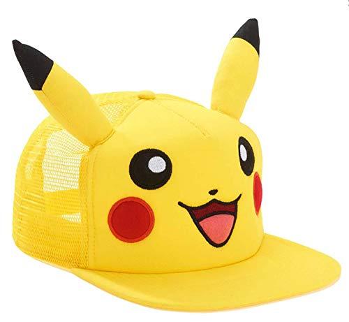 Pokèmon Pikachu Big Face with Ears Snapback Hat | One Size