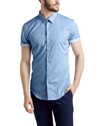 ESPRIT Collection - 054EO2F014 Chemise business Homme - Bleu (BUSINESS BLUE 437) - FR : 41 cm (Taille fabricant : Kragenweite: 41 cm)