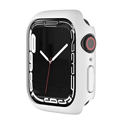 Colorful Uhrengehäuse Für Apple Watch Series 7 45mm Schutzhülle - Ultra-Thin TPU Weich Hülle Stoßfest Anti-Kratz Abdeckung Ersatz Protection Zubehör Hülle Cover (Weiβ)