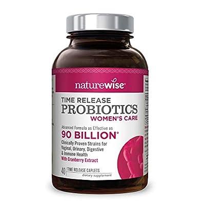 NatureWise Women's Care Probiotics: 8 Strains, 6 Billion CFU with Cranberry & D-Mannose, More Diverse Strains and Probiotics per Caplet