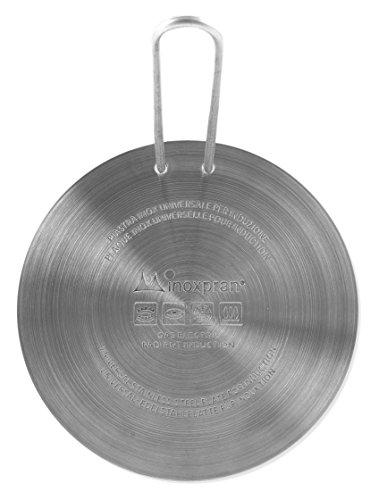 INOXPRAN Placa para inducción Placa de inducción, Acero Inoxidable, Gris, 16x 16x 0.5cm