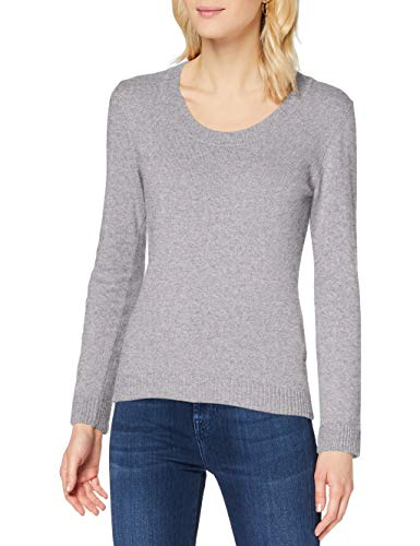Sisley Sweater L/s Maglione, Melange Light Grey 501, S Donna