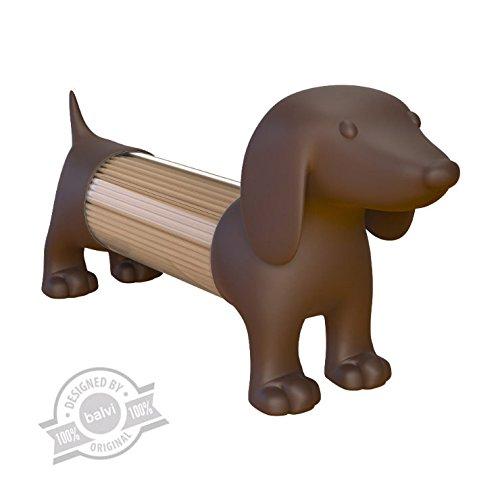 balvi Zahnstocherspender Teckel Braun In Form eines Hundes Acryl/PVC