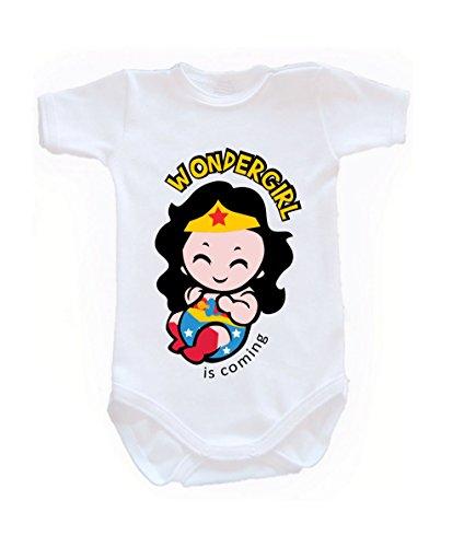 BColour Fashion Body Wonderwoman pour bébé, taille 24 mois, 100 % coton blanc 0-3 months, 62 cm