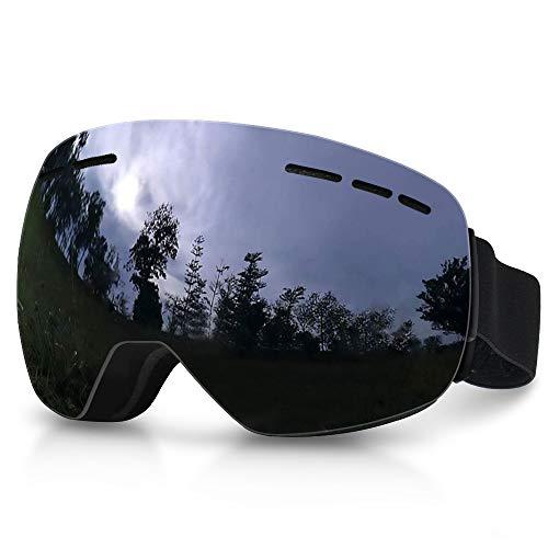 laxikoo Snowboard Brille Skibrille Anti Fog UV Schutzbrille mit Doppel-Objektiv Winddicht UV-Schutz OTG Ski Goggles Motorradbrillen Für Damen und Herren Jungen und Mädchen Snowboard Skifahren