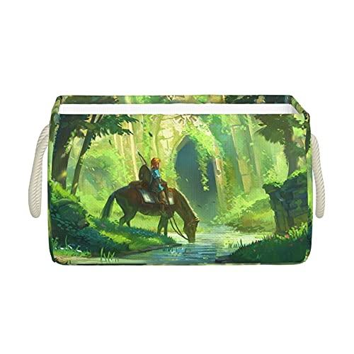 The Legend Of Zelda - Cesta de almacenamiento plegable, diseño simple, impermeable y duradera, bolsa de picnic, bonito regalo de anime