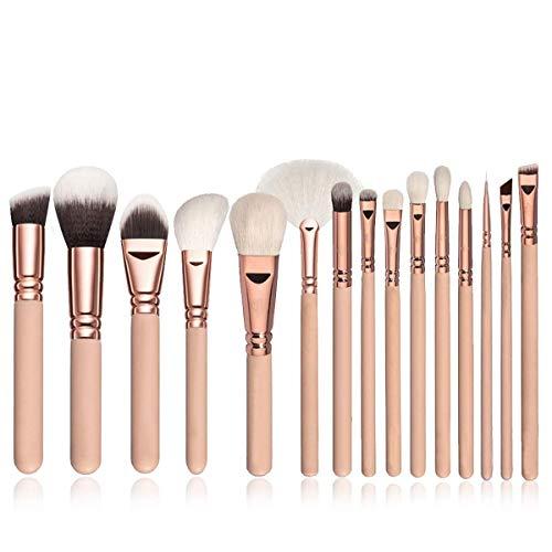 Pinceaux de maquillage, nouvel ensemble de pinceaux de maquillage en or rose rose fond de teint liquide ensemble d'outils de beauté professionnels pinceau idéal pour un usage professionnel et quotidie