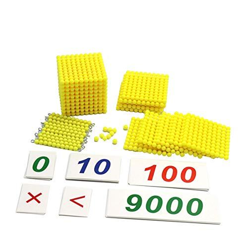 Lyguy Checker Board Perlen mit hölzernen Zahlenkarten, Montessori Checker Board Perlen mit hölzernen Zahlenkarten