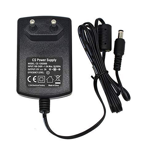 AC zu DC 12V 2A Netzteil Adapter, Stecker 5,5mm x 2,1mm für CCTV-Kamera DVR LED String Licht