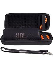 Khanka Harde tas + schouderriem voor JBL Charge 5/Charge 4 Bluetooth luidspreker (zwart)