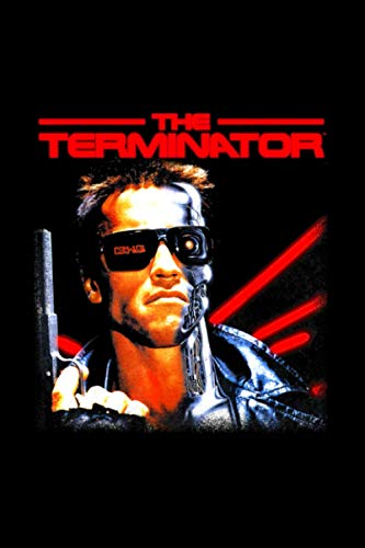 US The Terminator Classic Movie Box Art 01 Black Notebook Journal 114 Pages 6''x9''
