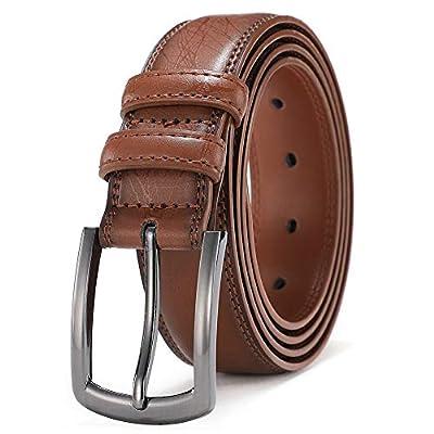 "Mens Belts Leather Big and Tall Dress Belts for Men Brown Black Tan Boys Belt 1.25 inch Width COOLERFIRE 39""(Waist 36""-37"") Beige ¡"