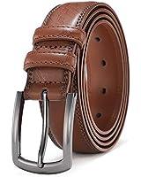 Mens Belts Leather Big and Tall Dress Belts for Men Brown Black Tan Boys Belt 1.25 inch Width COOLERFIRE 39