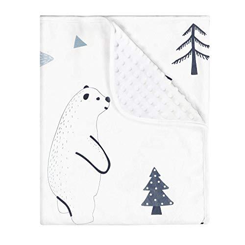 Yoofoss Baby Mantas Bebe Swaddle Wrap Bebé Chica o Baby Boy Mantas Suave y Confortable Saco de Dormir para Niños 75x100cm (oso blanco)