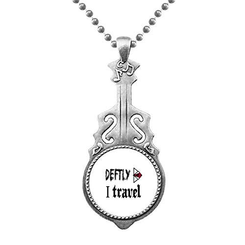 Deftly I Travel Art Deco Gift Fashion colgante joyas música guitarra Torque Star Moon