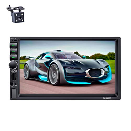 LSLYA Auto Radio Dual 2 Din Car Stereo Schermo Bluetooth 7 ''HDNavigazione GPS Touch MP5/TF/SD/USB/Media Player FM/AM/RDS Tuner Controllo volante