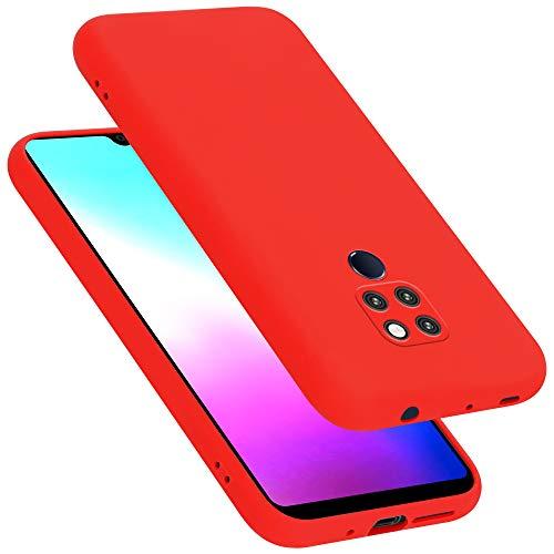 Cadorabo Custodia per Huawei MATE 20 in LIQUID ROSSO - Morbida Cover Protettiva Sottile di Silicone TPU con Bordo Protezione - Ultra Slim Case Antiurto Gel Back Bumper Guscio