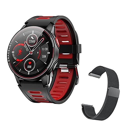ZGNB L6 Smart Watch, IP68 Impermeable, Deportes Smartwatch, Rastreador De Ritmo Cardíaco Fitness, Reloj Inteligente para Mujeres Y Hombres, Características Adecuadas para iOS Android,A