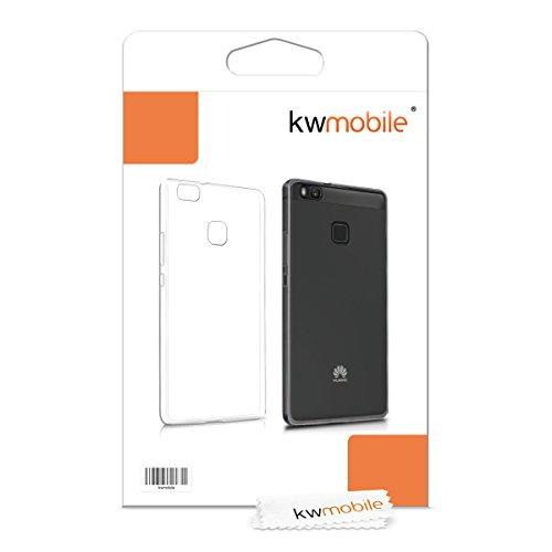 kwmobile Funda para Huawei P9 Lite - Case Ultra Slim de TPU sílicona - Cover Trasero en Transparente