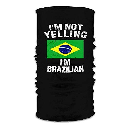fenrris65 I'M Not Yelling I'M Brazilian Unisex Neck Gaiter Windproof Scarf Balaclava Face Mask