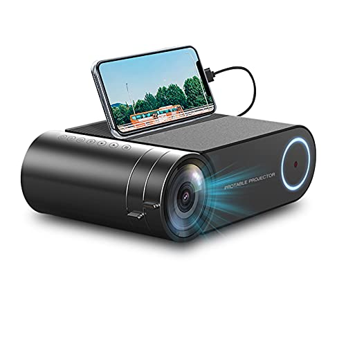 Mini Proyector Portátil Full HD 1080P LED Video Proyector De Video 3800 Lúmenes 200'Pantalla De Cine En Casa 30000 Horas Compatible con iPhone/Android/Portátil/PC/TV Stick