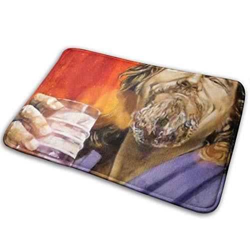 Yuanmeiju Rutschfester Teppich The Dude Abides Washable Indoor Outdoor Entrance Rug Non Slip Door Mat Bath Floor Mat 15.7
