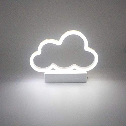 KS Creation Led Neon Sign Art Decorative Lights Table Decoration Wall Decor Neon Lamp with Glow Light for Kids Room Living Room Bedroom Unique Gift for Any Occasion (Warm White Cloud)