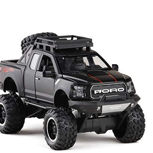 Coche de Juguete 1:32 Coche De Aleación para Raptor F150 Pickup Toy Diecast Vehículos De Juguete Modelo De Coche Sonido Y Luz Y Rueda De Coche Deslizante (Color : 4)