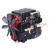 MAJOZ Toyan FS-L200 Motor de 2 cilindros de 4 tiempos Nitro Motor DIY Engine Kit para 1/10, 1/12,...