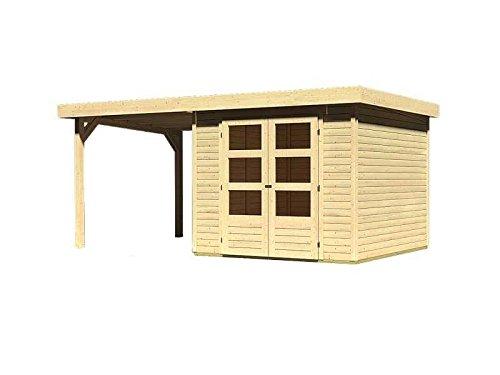 Unbekannt Karibu Woodfeeling Gartenhaus mit Anbaudach...