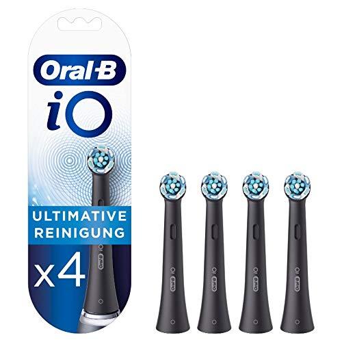 Oral-B iO Black Ultimative Reinigung Aufsteckbürsten für ein sensationelles Mundgefühl, 4 Stück