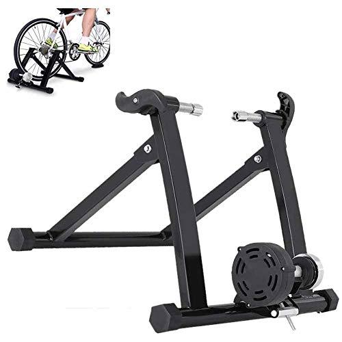 Tanceqi Opvouwbare fietstrainer, magnetisch, compatibel met Elite fiets en firma, duurzaam, weerstandsinstelling voor fitness, wielrennen, binnen en buiten