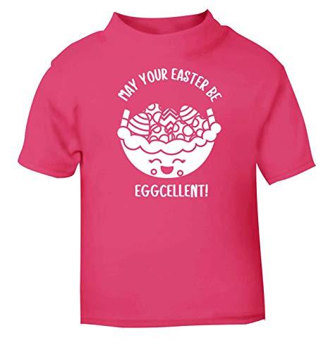 Flox T-Shirt créatif pour bébé May Your Easter be Eggcellent - Rose - 2 Ans