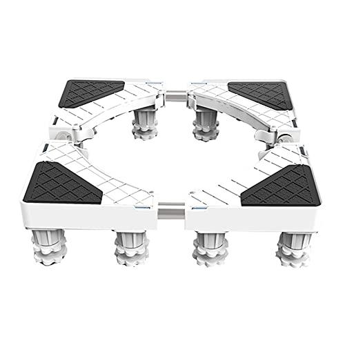 GEREP 4/8/12 Piedi Base Lavatrice Regolabile Supporto Frigorifero Carrello Lavatrice, Supporto Universale Mobile per Lavatrice / 12 Feet / 47 / 67cm/18.5/26.3inch