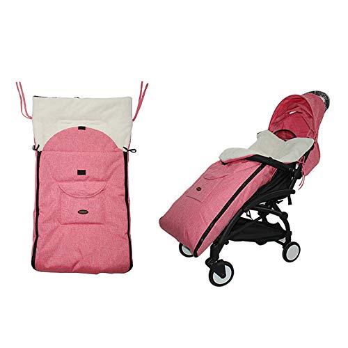 Sac de couchage poussette pour bébé, couverture chaude coupe-vent épaisse, sac de couchage universel polyvalent 3-en-1, couverture de pied pour poussette chaude, convient à la plupart des poussettes
