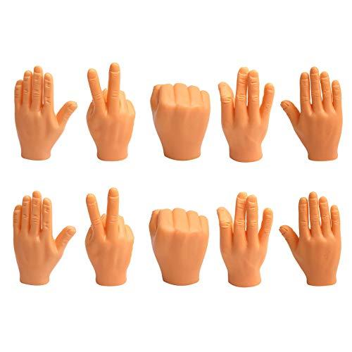 Succper Mini Dedos Manos Divertidas Marioneta de Dedos Pequeñas Manos Divertidas Novedad Tiny Hands Accesorios de Dedos Pequeños Juguetes de Pintar para Game Party Artículos de bromas para Fiesta