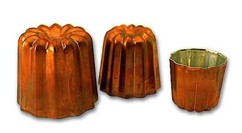 Moule cannelé cuivre professionnel à 45 mm de diamétre