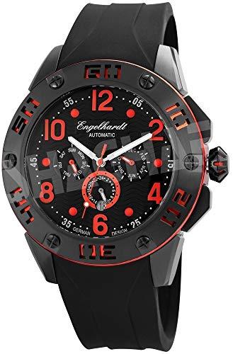 Engelhardt Herren Analog Mechanik Uhr mit Silikon Armband 388971029004