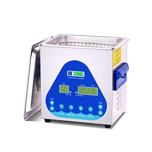 Professional Ultrasonic Cleaner - DK SONIC Sonic Cleaner with Heater and Basket for Denture,Coins,Small Metal Parts,Record,Circuit Board,Daily Necessaries,Tattoo Equipment,Lab Tools,etc