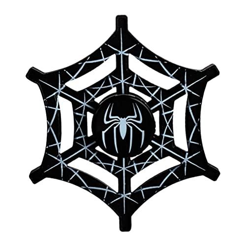 YSSClOTH Fidget Finger Hand Spinner Spider Web Design Gadget Juguetes de Escritorio 3D Spinning Top Focus Spiral Twister Juguete para aliviar el estrés