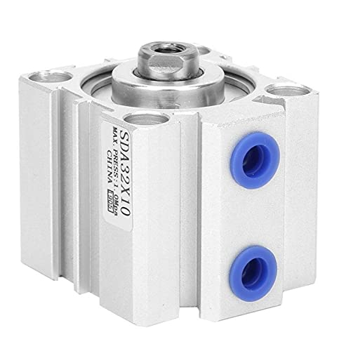 Cilindro neumático, durabilidad Válvula del cilindro de aire Componentes neumáticos Modo de doble acción Cilindro de aire de doble acción para la industria para la fábrica para equipos(SDA32X10)