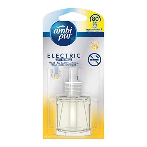Ambi Pur 4 Stück Refill für elektrische Lufterfrischer - Anti Tabak (Citrus) - 20 ml
