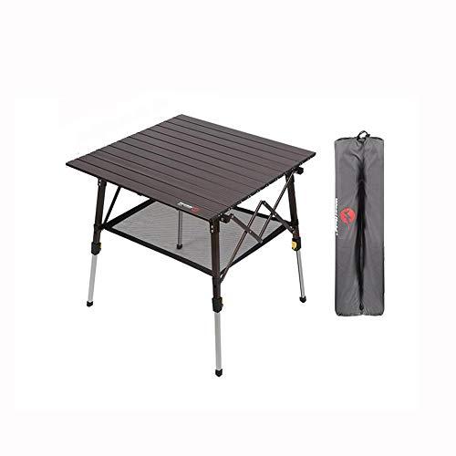 QIDI Table Pliable De Plein Air Camping Filet De Toile Collation Pique-Nique Un Barbecue Bureau Poids Léger Portable Durable Imperméable Accueil Jardin (Couleur : Noir)