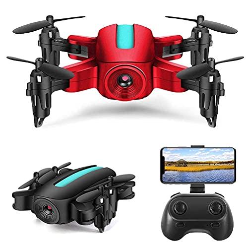 J-Clock Mini Drone RC Plegable, Drone para niños, Drones con cámara HD 1080P, Presión Aire Flotante, Rollover 3D, Modo sin Cabeza, Vuelo trayectoria, Sensor Gravedad, Retorno una tecla