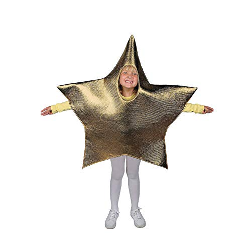 Gold Star Shaped Costume for Kids - Christmas Costumes Props