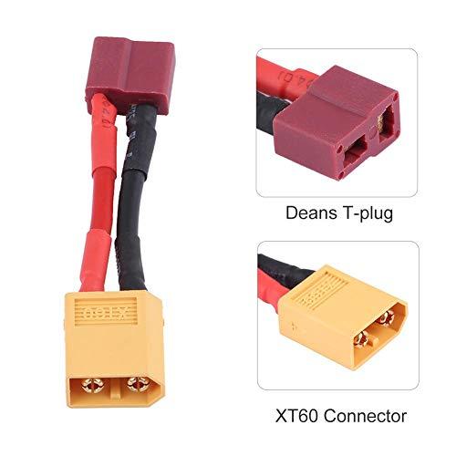 RC-T-Stecker-Buchse an XT60-Stecker, Deans Style T-Stecker-Buchse an XT60-Stecker, Adapterkabel für RC-Batterie-Ladegerät