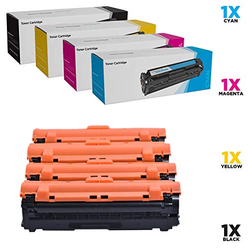 WENMW - Cartucho de tóner Compatible para Samsung Xpress SL-C1860FW SL-C1810W C1810 C1860 CLX-4195FW CLP-415NW CLX-4195 CLX-4195N SL-C1860FW/XAA CLT-K504S (4-KCMY), Color 4P.