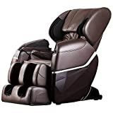 Massage Chair,Shiatsu Full Body Massage Chair Zero Gravity Massage Chair Recliner with Built in Heat Therapy and Foot Roller Airbag Massage System for Living Room Home Office (Brown)