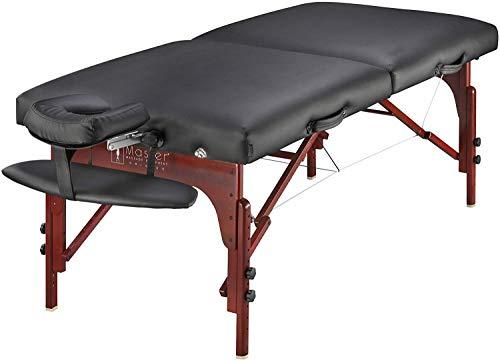 Master Massage 70cm Wide Montclair 7.6cm Memory Foam Portable Massage Table...